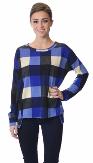 Sporty Plaid Pullover