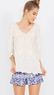 Stella Embroidered Top*