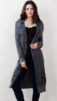 Stripe It Up Cardigan Sweater