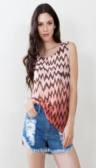 Sunset Ikat Top*