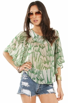 Tall Grass Chiffon Top