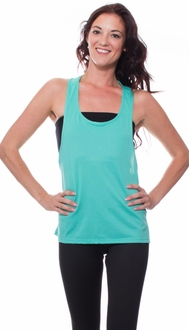 Teal T-Back Workout Tank