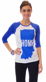 This Is Home - United State of Indiana Baseball Tee