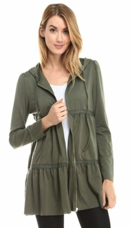 Tiered Olive Green Jacket
