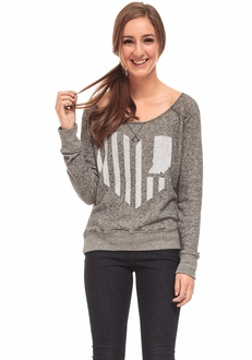 United State of Indiana French Terry Sweater - Black