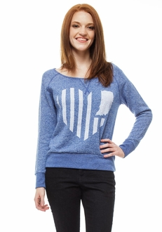 United State of Indiana French Terry Sweater - Blue