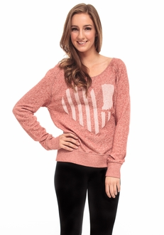 United State of Indiana French Terry Sweater - Red