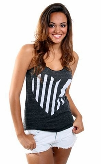 United State of Indiana Heart Tank - Eco Black