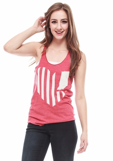 United State of Indiana Heart Tank - Red
