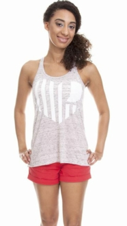 United State of Indiana Scoop Neck Tank- White Marble