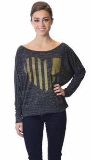 United State of Indiana Pullover - Grey/Gold