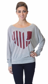 United State of Indiana Pullover - Grey / Red