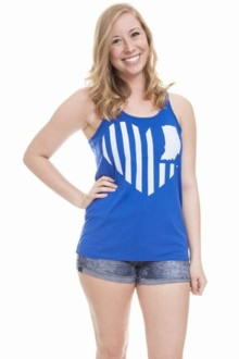 United State of Indiana Scoop Neck Tank- Royal Blue Solid