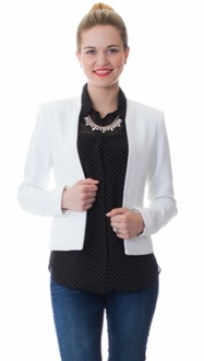 White Staple Blazer