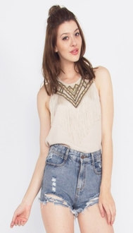 Wonderland Fringe Top*