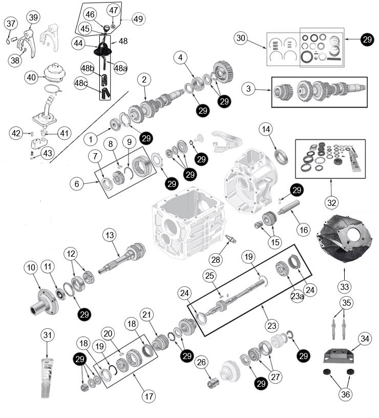 1973 jeep cj5 304 v8 wiring diagram borg warner t4 and t5    jeep    transmission parts cj    jeep     borg warner t4 and t5    jeep    transmission parts cj    jeep