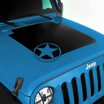 Hood Decal, Military Star, for 2007-17 Jeep Wrangler JK