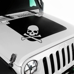 Hood Decal, Skull, for 2007-17 Jeep Wrangler JK