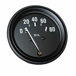 Oil pressure gauge, fits 1949-64 Jeep CJ-3A, CJ-3B