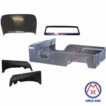 Replacement steel body kit, 1955-1968 Jeep CJ-6