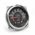 Speedometer assembly, 0-140 kph, includes speedometer assembled with fuel and temperature gauges, Jeep CJ-5 1980-83, CJ-7 1980-86, CJ-8 1981-86