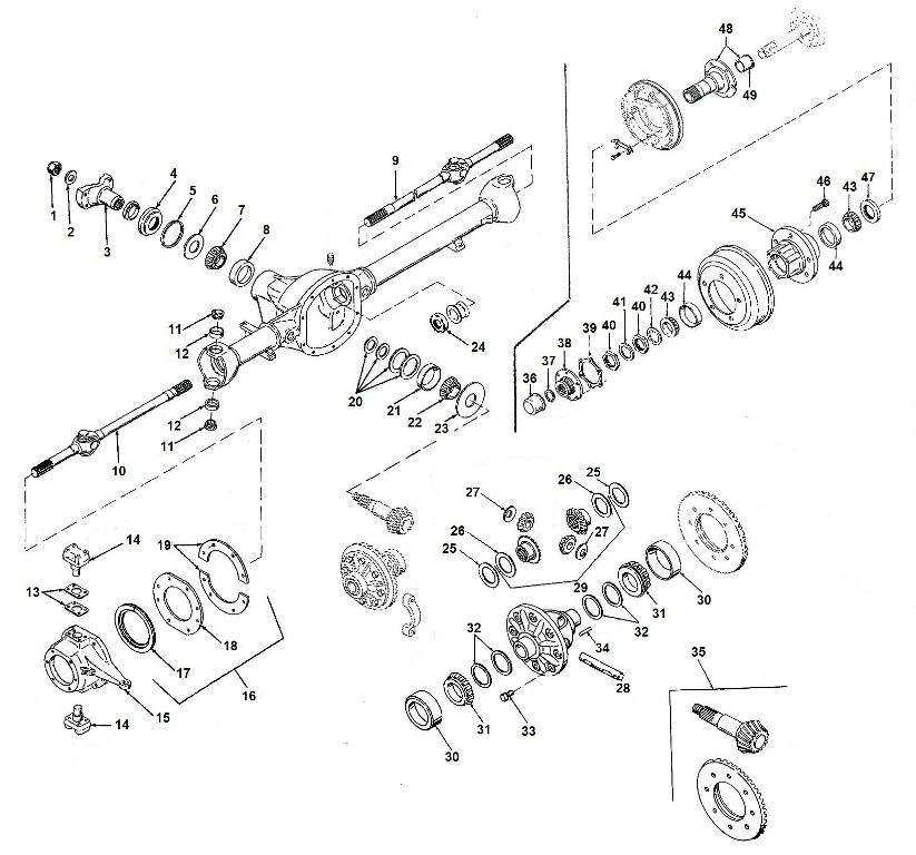 Willys Jeep Cj Front Axle Parts Dana 25 27 as well 1997 Jeep Cherokee Engine Diagram additionally Np241 furthermore Focus Transmission Range Sensor likewise 720n6 Hello 01 Jeep Grand Cherokee Limited 4 7l. on jeep wrangler transmission parts html