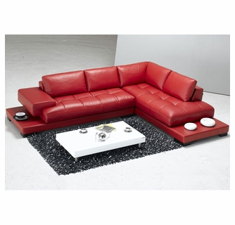 Surprising Tosh Furniture La Spezia Modern Red Leather Sectional Sofa Caraccident5 Cool Chair Designs And Ideas Caraccident5Info