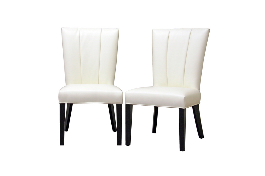 Magnificent Janvier Off White Leather Modern Dining Chair Set Of 2 Ibusinesslaw Wood Chair Design Ideas Ibusinesslaworg