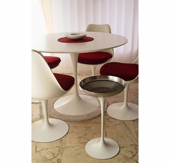 Sensational Saarinen Tulip Dining Set Including Tulip Marble Table And Onthecornerstone Fun Painted Chair Ideas Images Onthecornerstoneorg