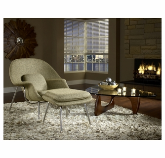 Amazing W Lounge Chair And Ottoman Set In Oatmeal With Triangle Inzonedesignstudio Interior Chair Design Inzonedesignstudiocom