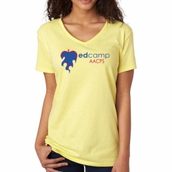 AACPS Ladies' Cotton V-Neck