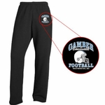 Mustangs Black Open Bottom Sweatpants