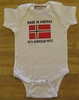 Made In America With Norwegian Parts Onesie