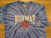 Norway Flag Tie Dye Shirts