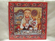 """""""Egg Coffee  Girl"""" Tile by Suzanne Toftey"""