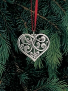 Norwegian Pewter Ornament - Acanthus Heart