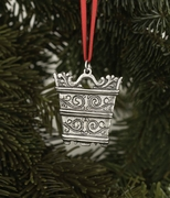 Norwegian Pewter Ornament - Rosemaling Tinn
