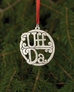 Norwegian Pewter Ornament - Uff Da