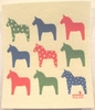 Swedish Dishcloth - Anneko Dala Horses