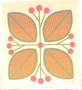 Swedish Dishcloth - Orange Leaves