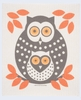 Swedish Dishcloth Owl - Orange