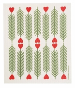 Swedish Dishcloth - Pine Branch and Heart