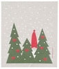 Swedish Dishcloth - Tomte in the Trees