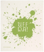 Swedish Dishcloth Uff Da Green
