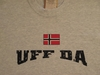 Uff Da Distressed with Norwegian Flag Long-Sleeved T-Shirts