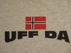 Uff Da with Norwegian Flag Hooded Fleece
