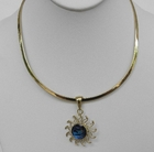 Charles Albert Alchemy Sun Pendant Neckwire Necklace