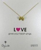 Dogeared Love Collection Angel Wings Silver Necklace
