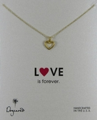 Dogeared Love Collection Open Heart Gold Dipped Necklace