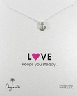 Dogeared Love Collection Silver Steady Anchor Necklace